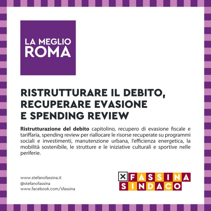 Programma Sinistra X Roma - il debito