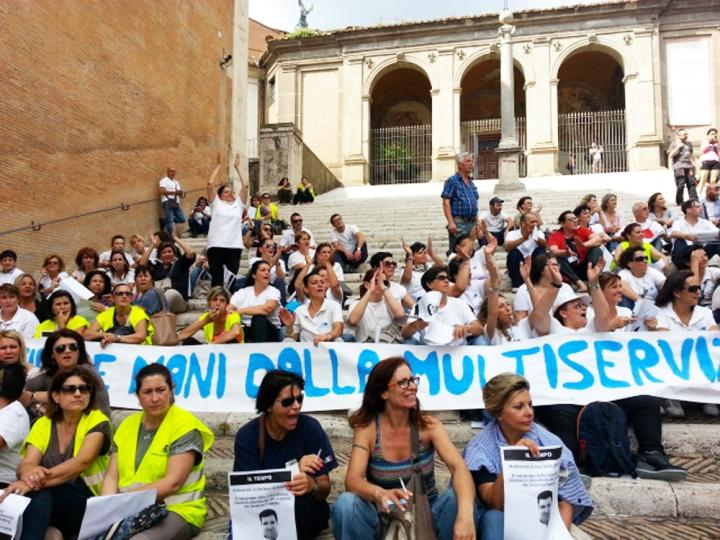 protesta-multiservizi-roma